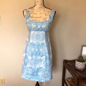Kaeli Smith blue and white floral dress